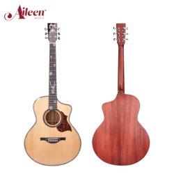 アーリーエンミュージックハイクオリティ 40 インチ /41 インチソリッドアフリカマホガニーのバックサイド アコースティックギター (AH17SC)