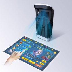 オフィス、ホーム、棒使用のためのデスクトッププロジェクター指の接触どこでも