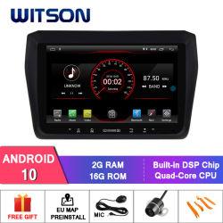 Wittson 9'' Android 10 de la gran pantalla coche reproductor multimedia GPS para Suzuki Swift 2017-2018 la radio del vehículo