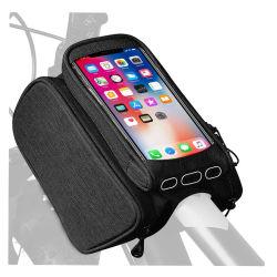 Bicicleta Pannier Bolsa Teléfono móvil con pantalla táctil del tubo superior delantera bicicletas bicicleta Bicicleta Carretera Pack bolsa