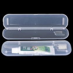 Geval van de Tandenborstel van de Tandpasta van de Opslag van het Geval van de Tandenborstel van het Gebruik van de Reis van de Doos van de Tandenborstel van de Leverancier het In het groot pp van China van Sunshing Dagelijkse Plastic Duidelijke