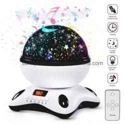 Cielo estrellado de iluminación de Flash Control Remoto La música de proyección de luz para la habitación del bebé