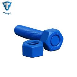 ASTM A193 PTFE A194 2hのナットとの青いFinsh B7の完全な糸の棒のスタッドのボルトDIN 975 DIN 976