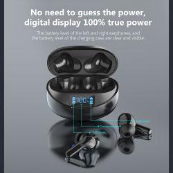 Dlpo Earbuds 헤드폰 이어폰 스포츠 이동 전화 비용을 부과 케이스를 가진 방수 Ipx 5 이동 전화 부속품 도박 Bluetooth 무선 여행 Tws