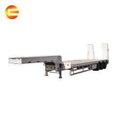 차축 3/4 무거운 장비 트럭 트레일러 45-60 톤 반 평상형 트레일러 낮 침대 화물 Lowbed 의무 수송
