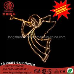 Decoratieve Licht van het Motief van de LEIDENE het OpenluchtEngel van de Decoratie voor Kerstmis