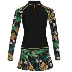 Горячие продажи девочек цельный Sportwear и купаться платье для черного цвета