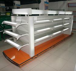 Supermercado racks com Suporte de Prateleira Cosméticos Shlef de vidro