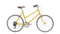 Light-Weight, 7 de la ciudad de velocidad de la bicicleta en 26pulgadas ruedas, con una cómoda, en posición vertical de paseo.