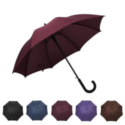 Высокое качество автоматически открывать резиновую рукоятку оптовой Ad зонтик
