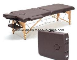 Het draagbare Bed van de Schoonheid van het Bed van 2 Vouwende Houten Vouwende Massages (m-X3823)