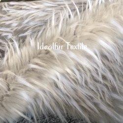 Trois ton jacquard à longs poils fausse le raton laveur Col de Fourrure