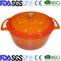 De Braadpan Cookware van het Gietijzer van het email Met Dekking Dia 24cm 28cm