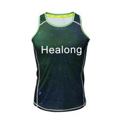 China importó camiseta personalizada de comercio al por mayor Deportes Camiseta de gimnasia