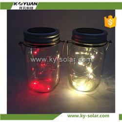 2017 Nouveau design en verre de couleur de lumière solaire de jardin Jar Jar