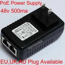 Montaje en pared Fuente de alimentación de conmutación Ethernet AC Adaptador DC pasiva el inyector Poe inyector de alimentación