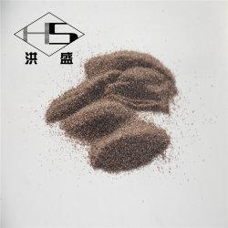 브라운은 반토 알루미늄 산화물 연마재 곡물을 융합했다