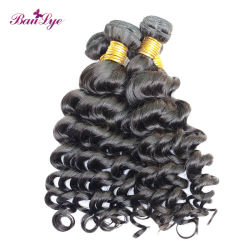 Venda por grosso de onda profunda soltas Virgem Brasileira Remy Extensão de cabelo humano