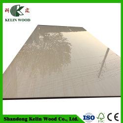 Haute brillance UV avec du grain du bois MDF/Solid Color