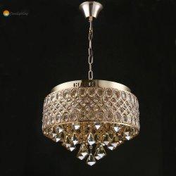 Restaurante Oro colgantes decorativas candelabros de cristal para el hogar Salón