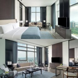 Sofitel 파이브 스타 호텔 (GLBS-0002)를 위한 베니어 호텔 침실 가구를 가진 중국 사람 2020 새로운 디자인 호화스러운 특대 주문을 받아서 만들어진 나무 그리고 합판