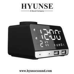 Réveil Bluetooth Hyunse l'Orateur Dock avec fonction de radio FM de deux ports USB