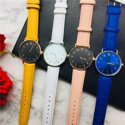アラビア数字の腕時計の新しいデザインMontreの革バンドWatch#V817
