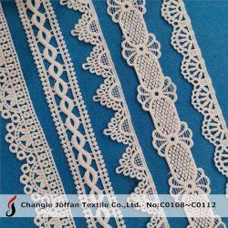 Adattando gli accessori materiali dell'indumento di modo del merletto del ricamo del poliestere del Crochet (C0108)