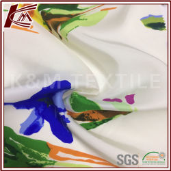 Impresión de flores de seda 100% pura seda Habotai Fabric