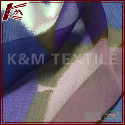 Elástica de 8mm imprime la seda Georgette tejido con SGS aprobado
