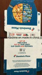 A Alta Definição Pizza caixa de papelão de impressão da impressora para escatelar Die Embalagem de Corte da Máquina de Papelão Ondulado