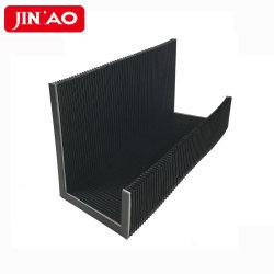 Coperchi flessibili personalizzati di CNC della guida di guida del coperchio dei soffietti della fisarmonica del panno di cuoio