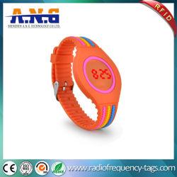 LED 디지털 시계/접촉 스크린 시계를 가진 RFID 실리콘 소맷동