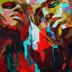 De Uitdrukking Face003 van het Olieverfschilderij van het Palet van het Portret van Nielly van Francoise