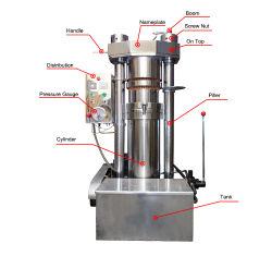Hidráulico de Alta Eficiência Pequeno Preço da máquina de óleo de pressão a frio