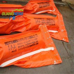 A contenção de óleo inflável de borracha PVC lança óleo