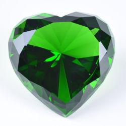 機械切りのガラス水晶中心のダイヤモンド結婚式の好意