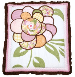 Bambino Patchwork Quilt con 3D Flower Embroidery Lovely per la neonata