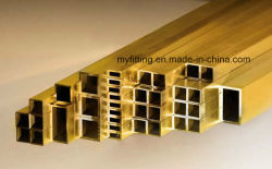 Hard Temper Cuzn32 Cuzn35 CuZn37 Retangular & Square Brass Tube/Brass Pipe 최고의 가격의 장식 시스템