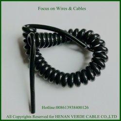 Muticore 3core 5core pur fil enroulé en spirale pour l'équipement de contrôle du câble