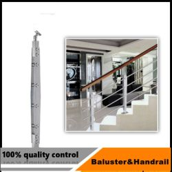 층계 또는 발코니 프로젝트를 위한 유리를 가진 스테인리스 난간 동자