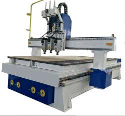 أداة التغيير التلقائي بسرعة فائقة ماكينة الثقب ذات الجين CNC للنحت والحفر، وقطع الأثاث الخشبي باستخدام رؤوس/أعمدة دوران متعددة