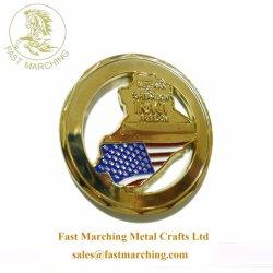 De forma personalizada de fábrica nós moedas metálicas em branco para estampagem medalhas