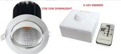 0-10V réglable /Dali Spot à LED à gradation 12W