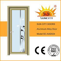 La mejor calidad de aluminio dorado solo puertas enmarcadas (SC-AAD024)