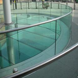 Vetro laminato temperato piano o curvo per le inferriate di vetro /Fences