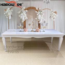 장방형 모양 Wedding 백색 철 금속 12 시트 사치품 테이블