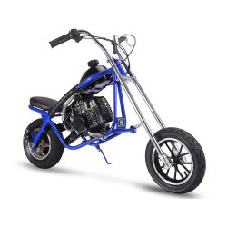 Mini gás gás motocicleta sujeira Bike, Azul