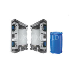 Extrusión moldeo por soplado moldeo de plástico del tambor de barril del depósito de la botella de HDPE moldeado por soplado molde
