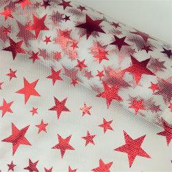 """Rullo della maglia di Tulle di esagono di X10y di disegno 6 di 2020 modi """" con le stelle della miscela della stagnola per la decorazione di natale"""